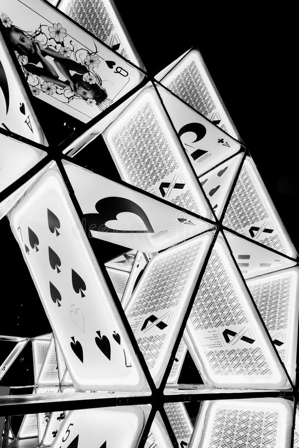 Часть установки «карточного домика» искусства на Potsdamer Platz стоковые изображения rf