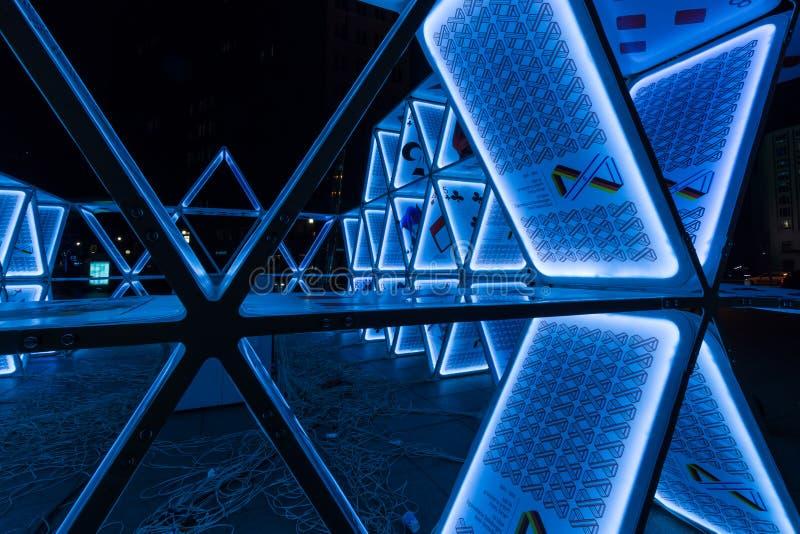 Часть установки «карточного домика» искусства на Potsdamer Platz стоковая фотография rf