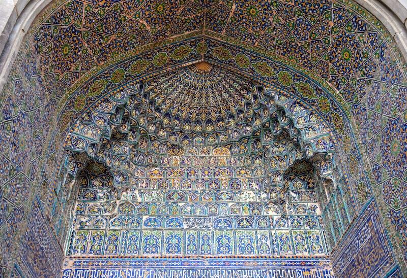 Часть фасада Madrasah Sher-Dor стоковое фото rf