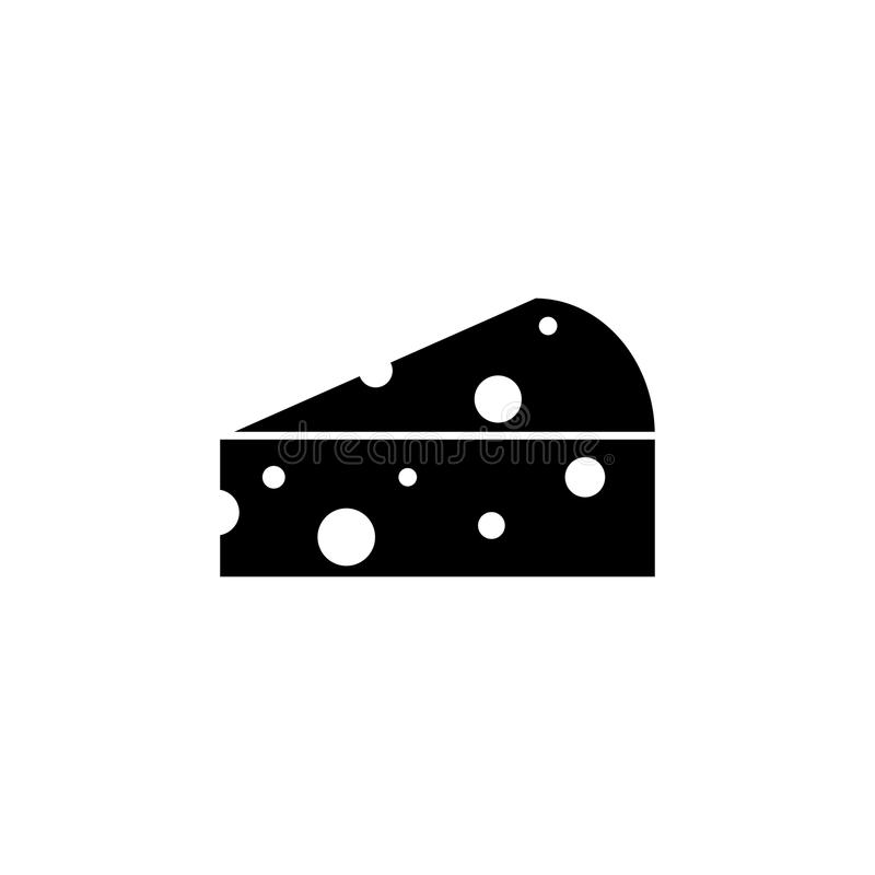 Часть черноты еды значка сыра иллюстрация вектора