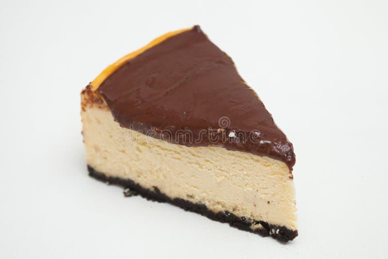Часть чизкейка шоколада стоковые изображения rf