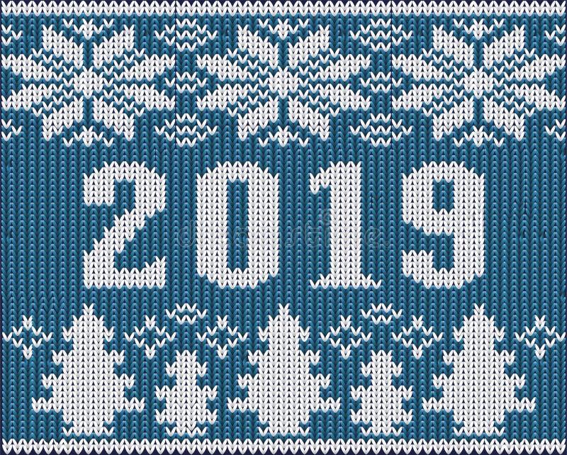 Часть шлямбура рождества с 2019 Новыми Годами связала текстуру иллюстрация вектора