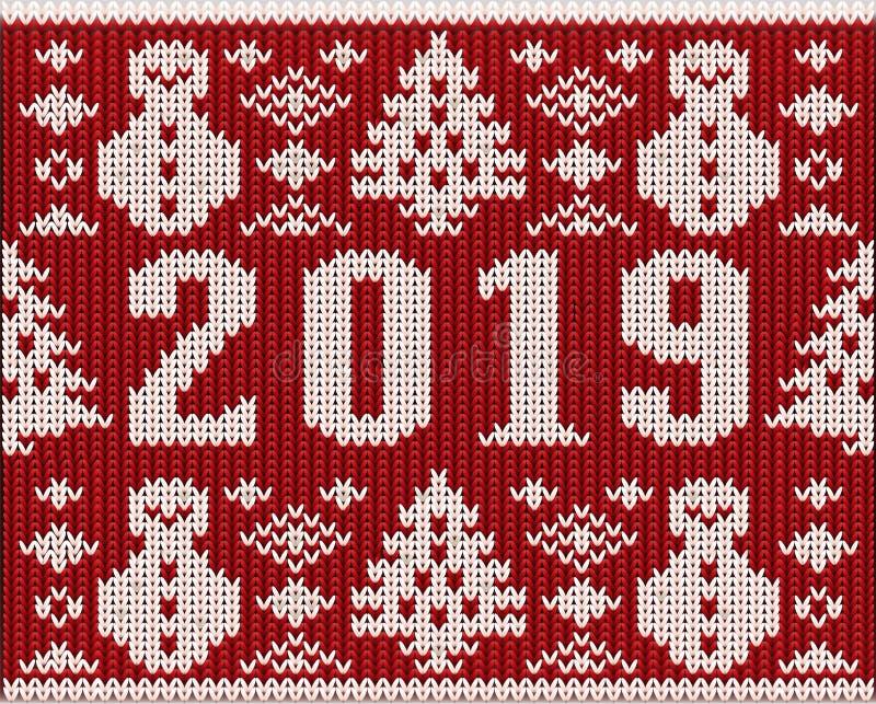 Часть шлямбура рождества с 2019 Новыми Годами связала текстуру иллюстрация штока