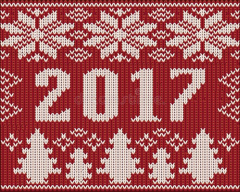 Часть шлямбура рождества с 2017 Новыми Годами связала текстуру иллюстрация штока