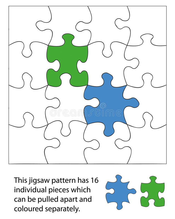 часть 16 зигзагов иллюстрация вектора