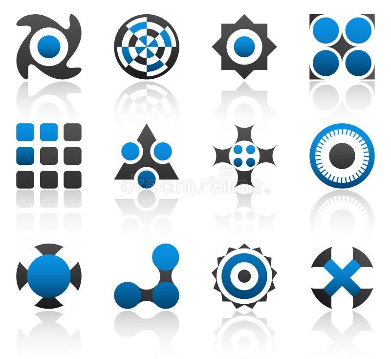 часть 2 элементов конструкции иллюстрация вектора