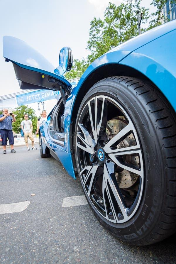Часть BMW i8 суперкара стоковая фотография