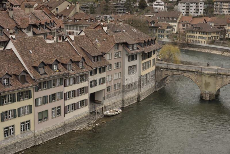 Часть cke ¼ Untertorbrà и старый город Bern Швейцария стоковое изображение