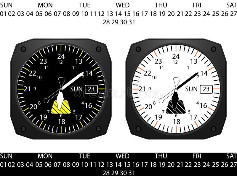 Часы аппаратуры арены самолета бесплатная иллюстрация