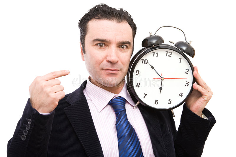 часы бизнесмена стоковые изображения rf