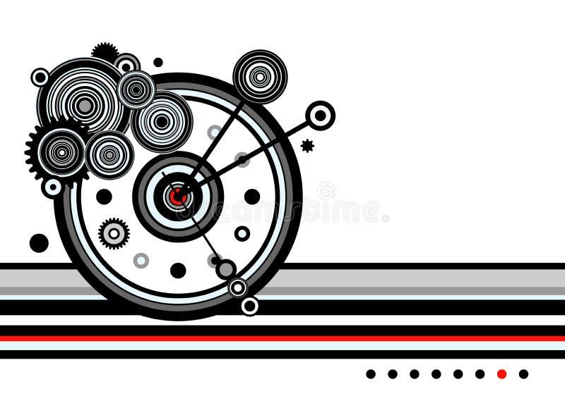 Часы, время, абстрактное иллюстрация вектора