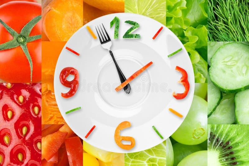 Часы еды стоковые фото