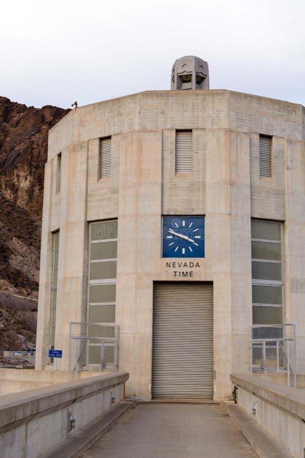 Часы запруды Hoover стоковое изображение