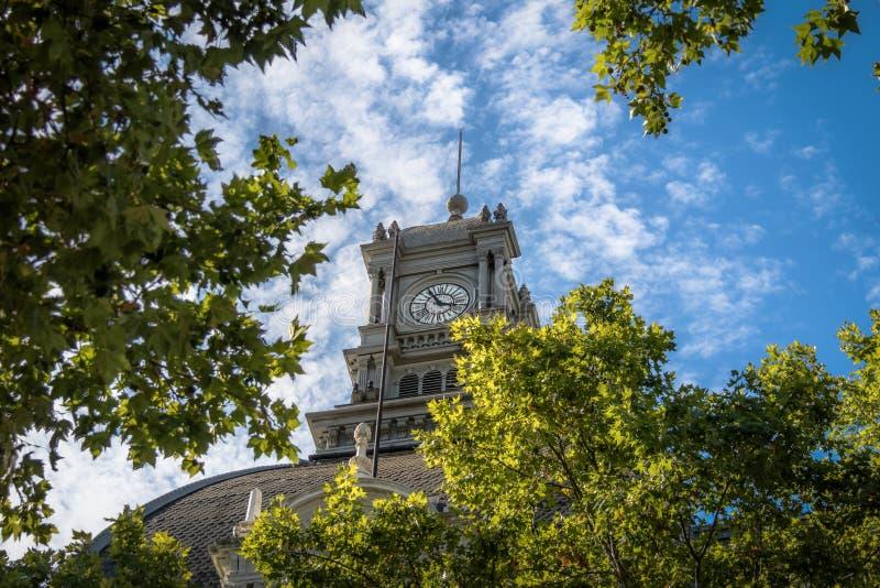 Часы здание муниципалитета Буэноса-Айрес - Palacio Муниципальный de Ла Ciudad de Буэноса-Айрес - Буэноса-Айрес, Аргентины стоковые фото