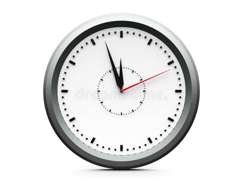 Часы значка без номеров иллюстрация штока