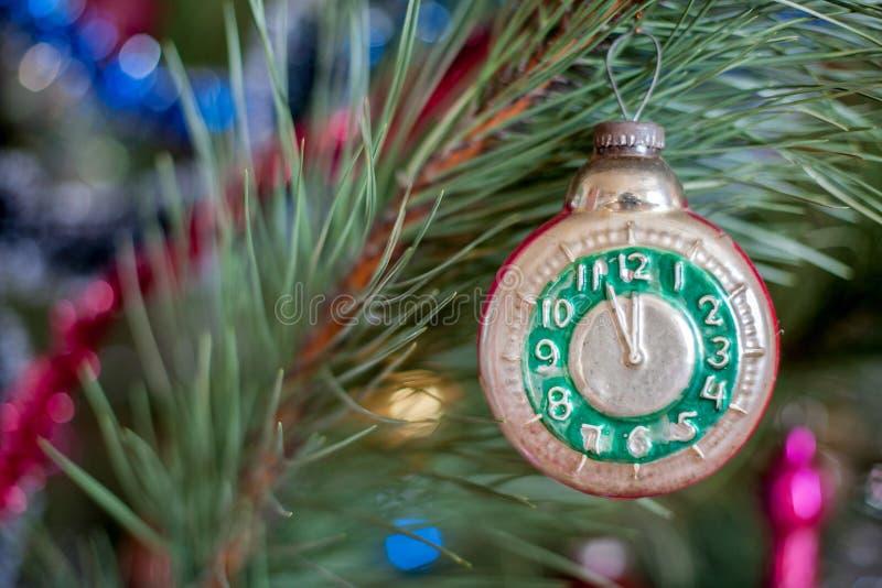 Часы игрушки рождества стоковые фотографии rf