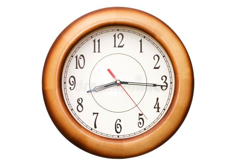 часы изолировали показывая время 9 стоковое изображение