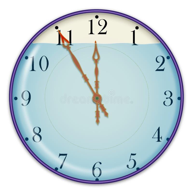 Часы и вода стоковая фотография rf