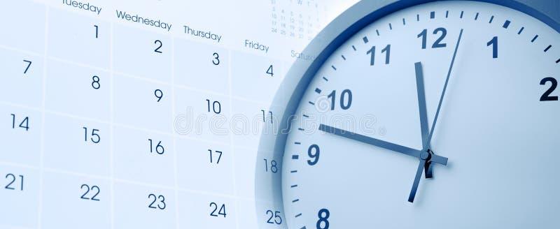 Часы и календарь стоковые изображения rf