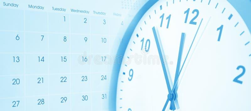 Часы и календарь стоковое изображение rf
