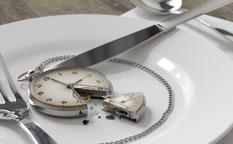 часы как торт иллюстрация штока
