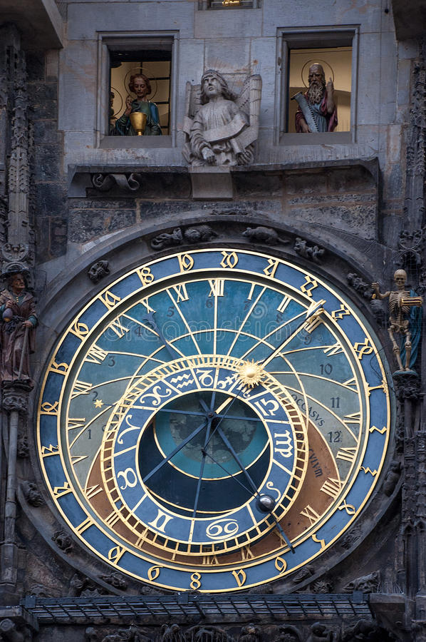 Часы календаря Праги стоковая фотография rf