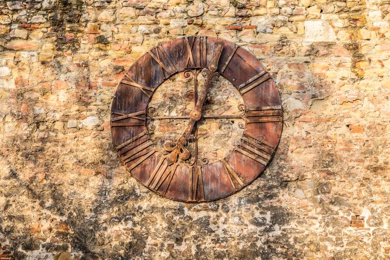 Часы, который извлекли от собора - Загреба, Хорватии стоковые фото