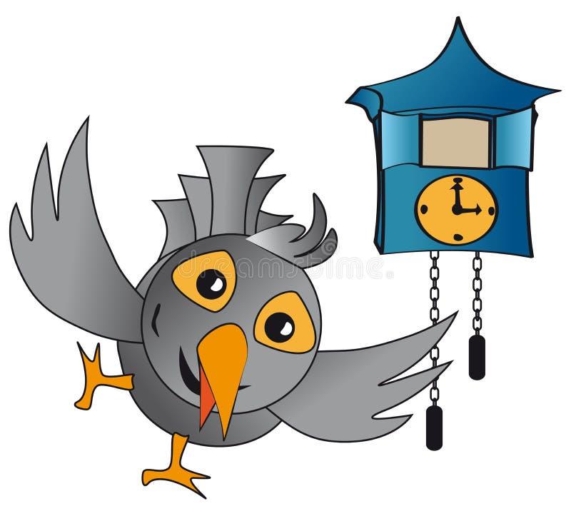 Часы кукушки иллюстрация штока