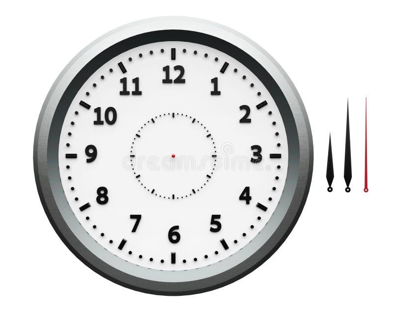 Часы металла с стрелками иллюстрация штока