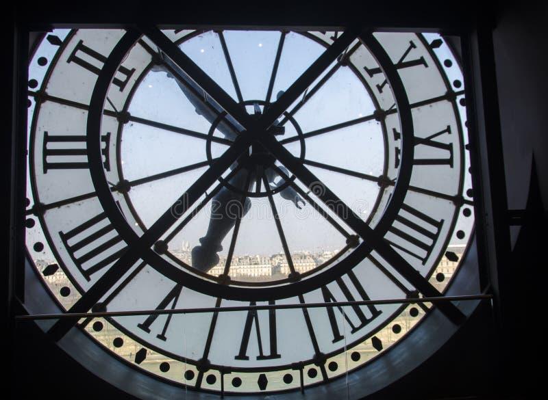 Часы музея в Париже стоковые фотографии rf