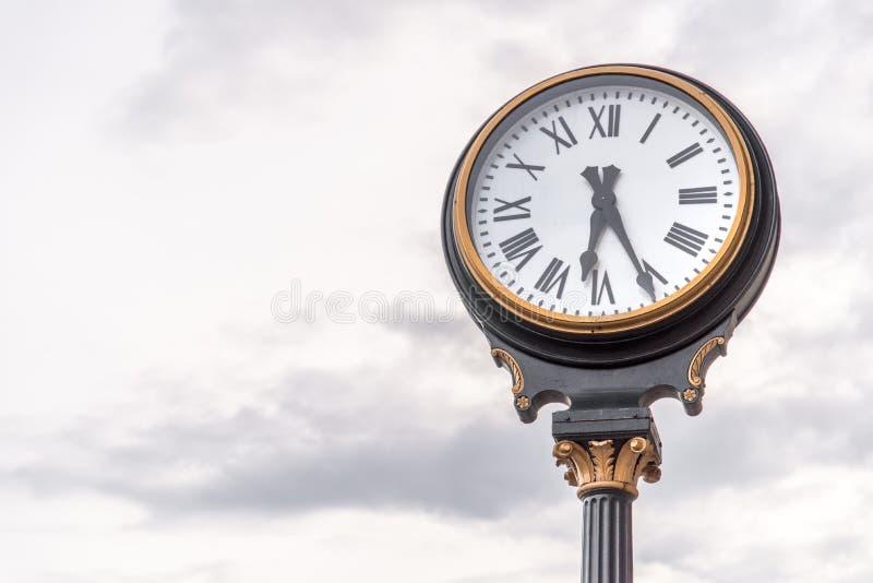Часы на станции Kansas City Миссури соединения стоковое изображение rf