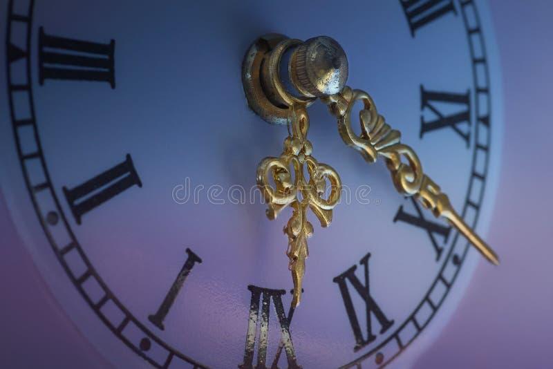 Часы Нового Года - деталь стоковое изображение