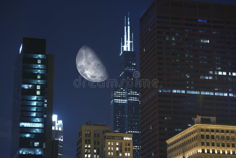 Часы ночи в Чикаго стоковые фото