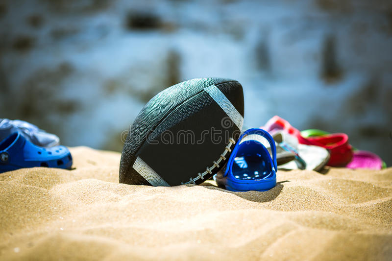 Часы досуга на пляже стоковое фото rf