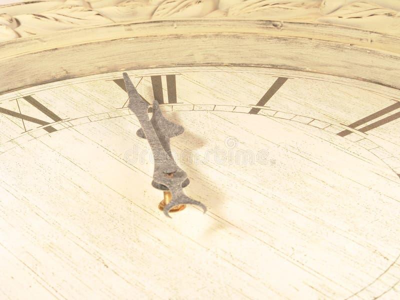 часы последняя минута стоковое изображение