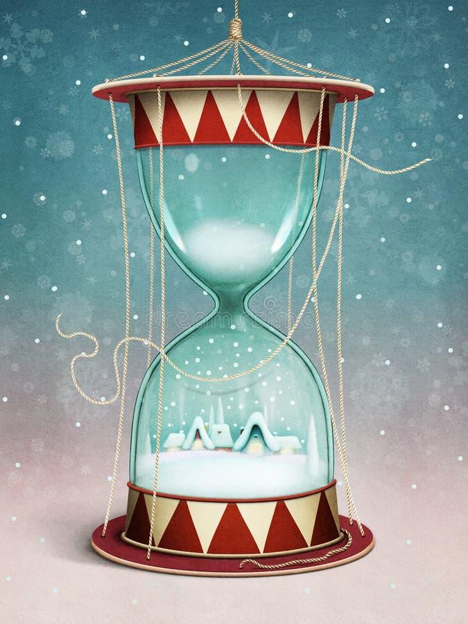 Часы рождества иллюстрация вектора