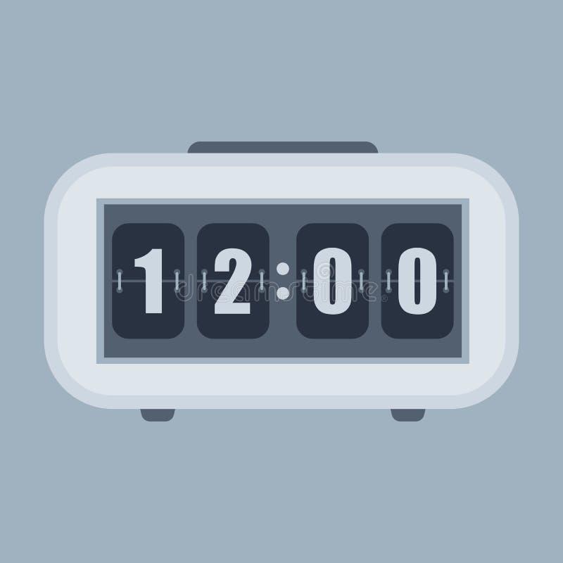 Часы сальто стены или таблицы, шаблон счетчика номера иллюстрация вектора
