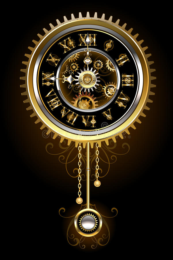 Часы с маятником бесплатная иллюстрация