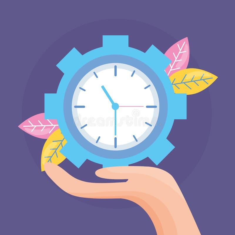 Часы удерживания руки иллюстрация вектора