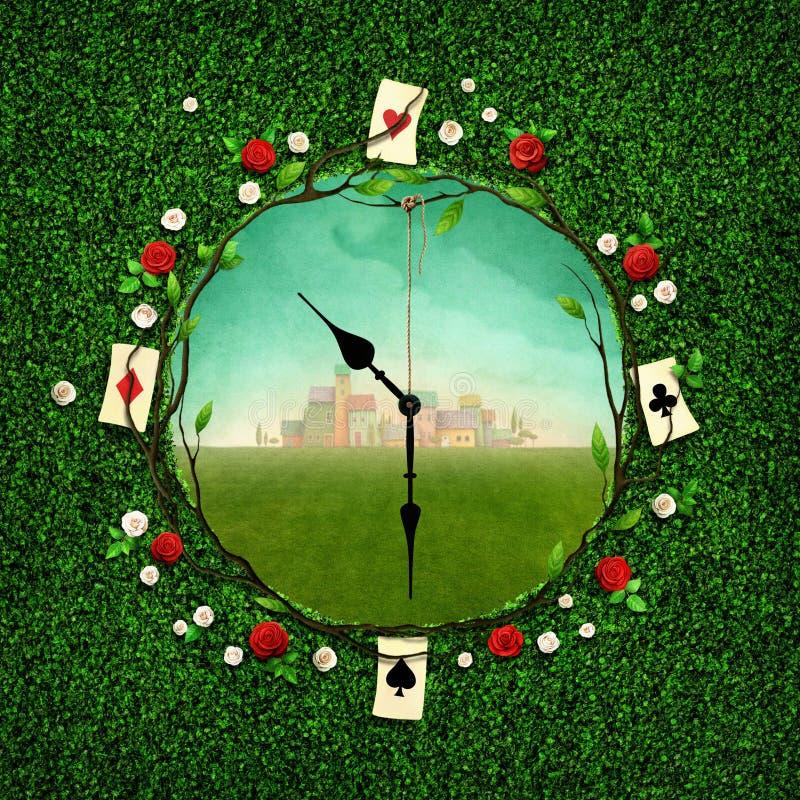 Часы фантазии иллюстрация вектора