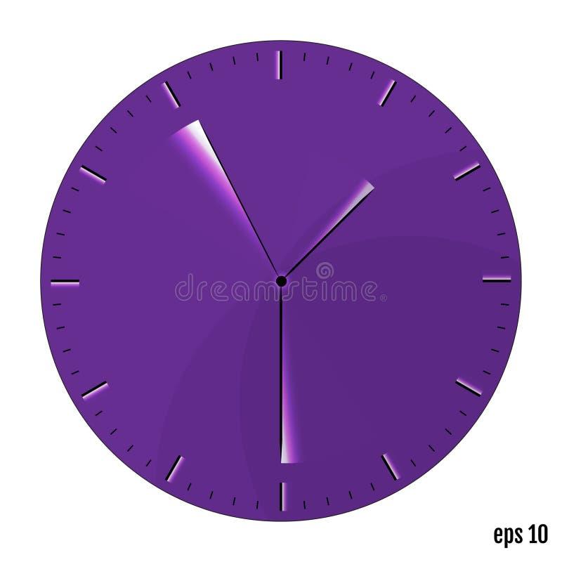 Часы цифрового интерфейса Минимализм, приглаживает дизайн вектор иллюстрация вектора