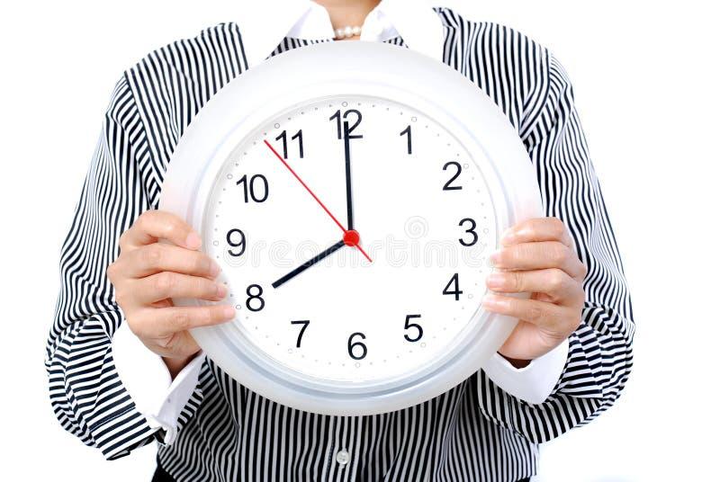 часы 8 o стоковое изображение