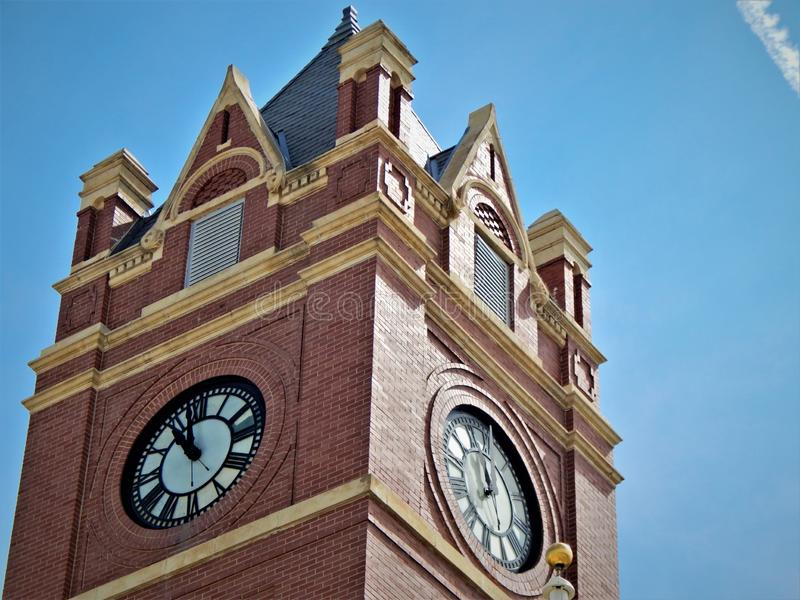 Часы Colby Канзаса здания суда Thomas County стоковые фотографии rf