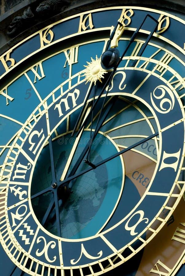 часы prague стоковое фото