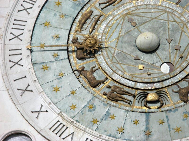 часы zodiacal стоковые изображения