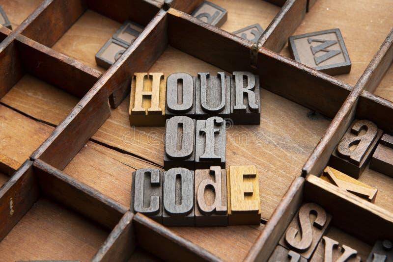 Час кода стоковое изображение rf