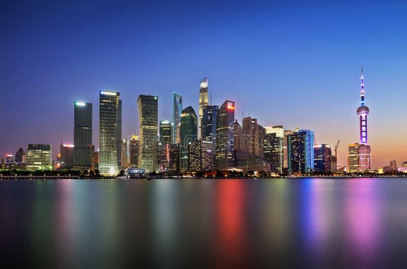 Час пик в Шанхае стоковые фото