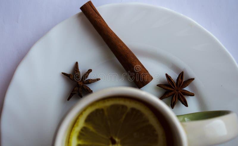 Чашек чаю с лимоном стоковая фотография rf