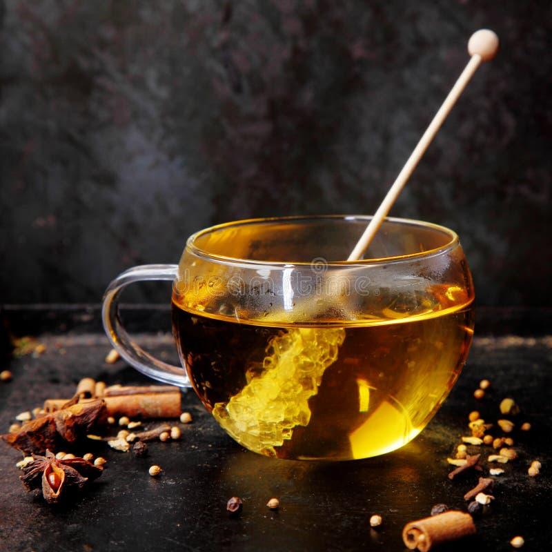 Чашка горячего ароматичного пряного чая стоковое изображение rf