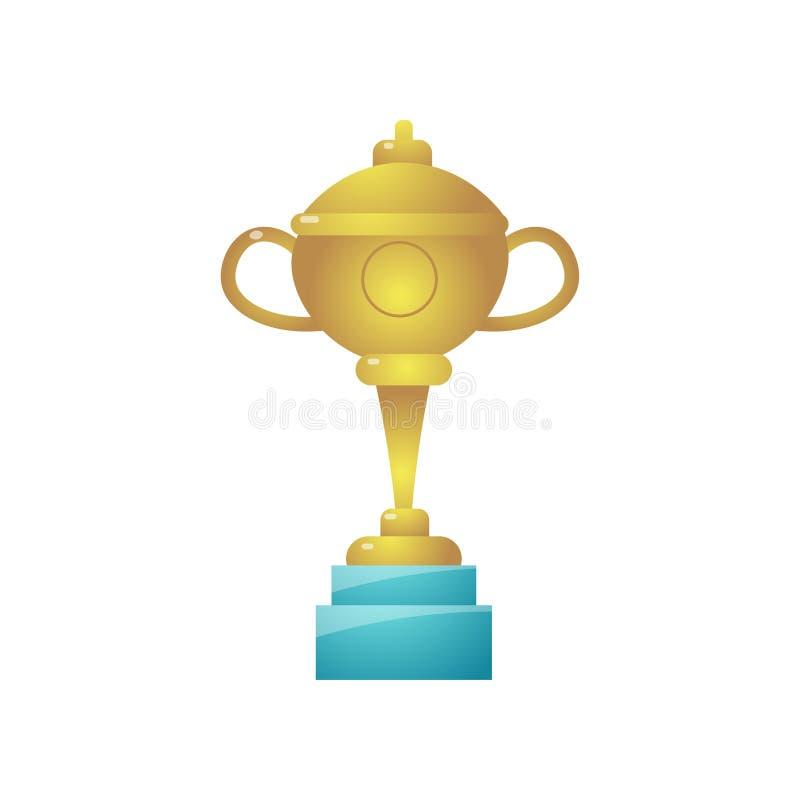 Чашка золота гольфа чемпионата семьи летнего отпуска иллюстрация вектора